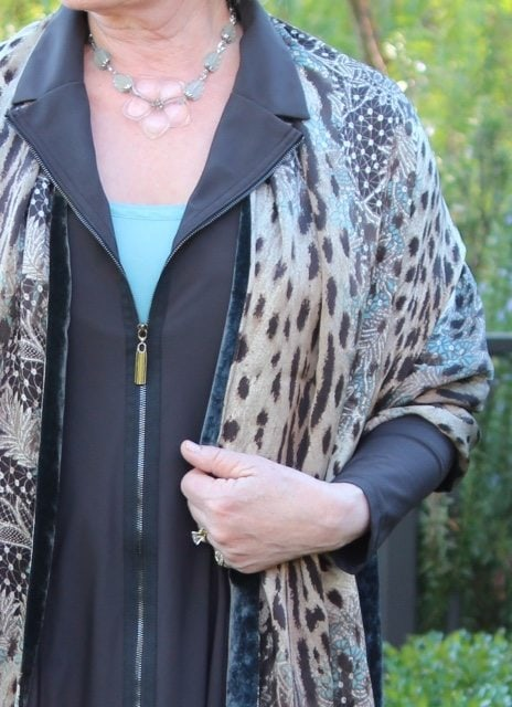 my stlle is a Josie Jacket by Comfy USA and leopard wrap