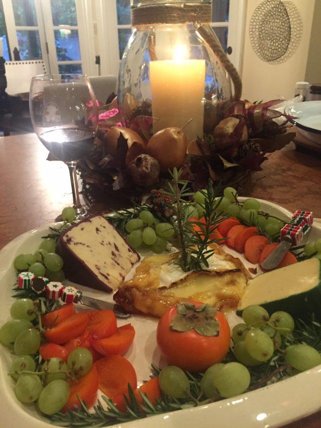 Cheese tray at a holiday party