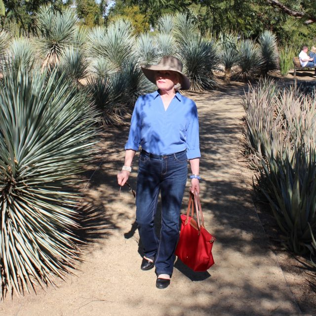 Walking the grounds of the Annenberg Estate in Rancho Mirage