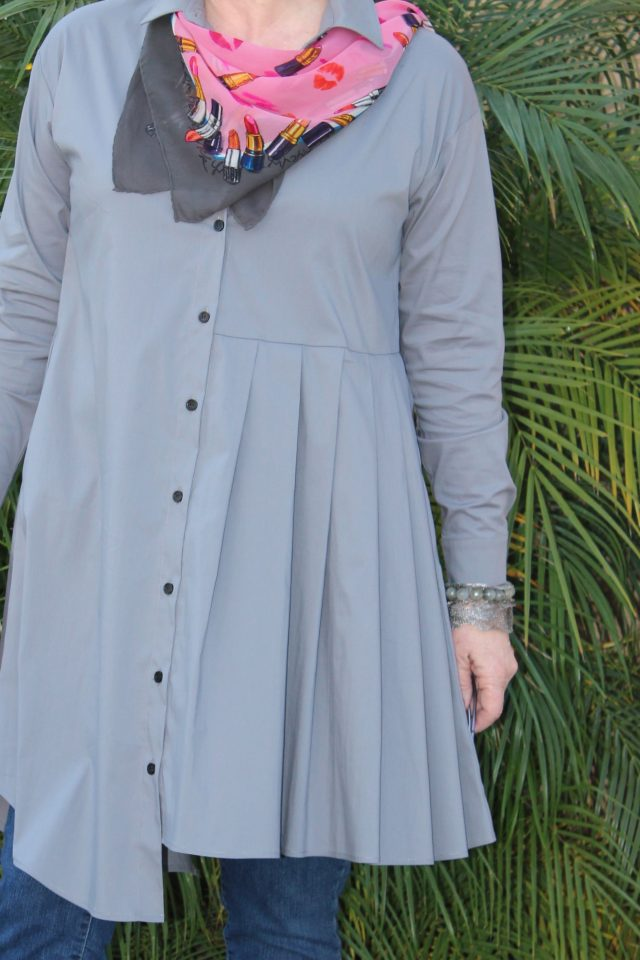 pleating detail on Lexi Tunic from Artful Home