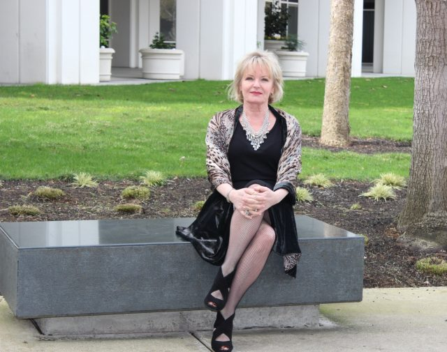 dressing up a LBD for women over 50
