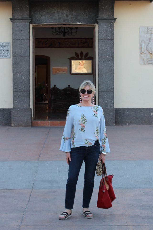 toiwn square in Loreto Mexico