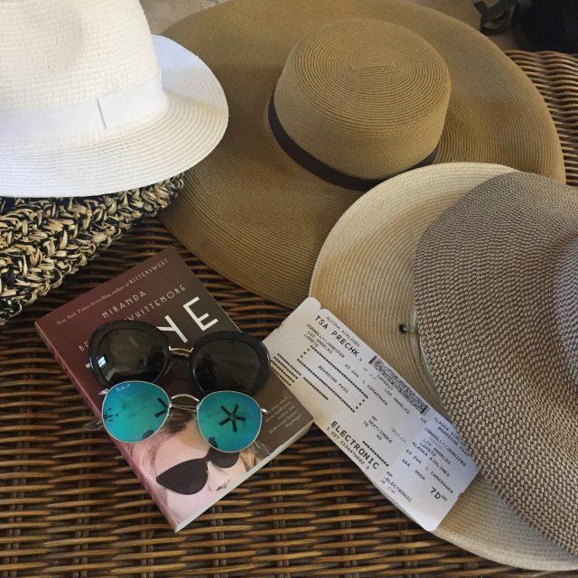 sun hats and a fun novel