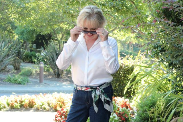 Jennifer Connolly of A Well Styled Life in LilySilk blouse