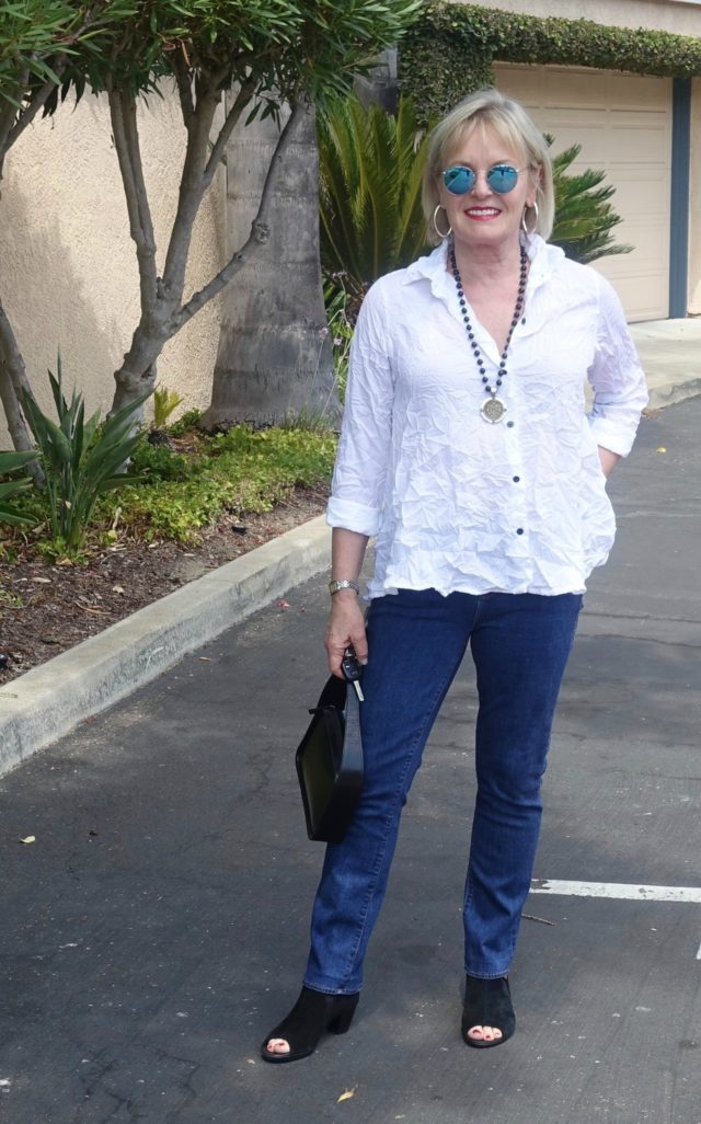 Jennifer Connolly wearing Parker Smith Jeans