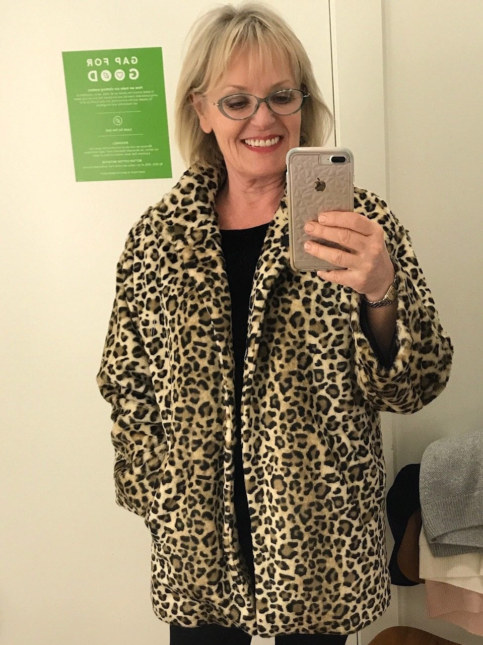 Jennifer Connolly of A Well Styled Life wearing Gap leopard coat