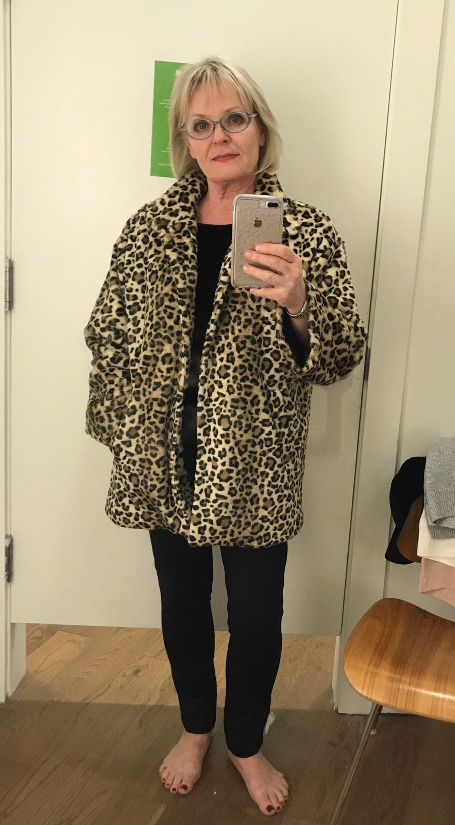 Jennifer Connolly of A well Styled Life wearing Leopard coat from the Gap