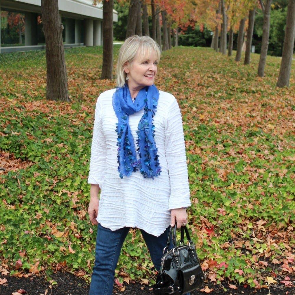 Jennifer Connolly wearing Prezzo Scarf from Artful Home