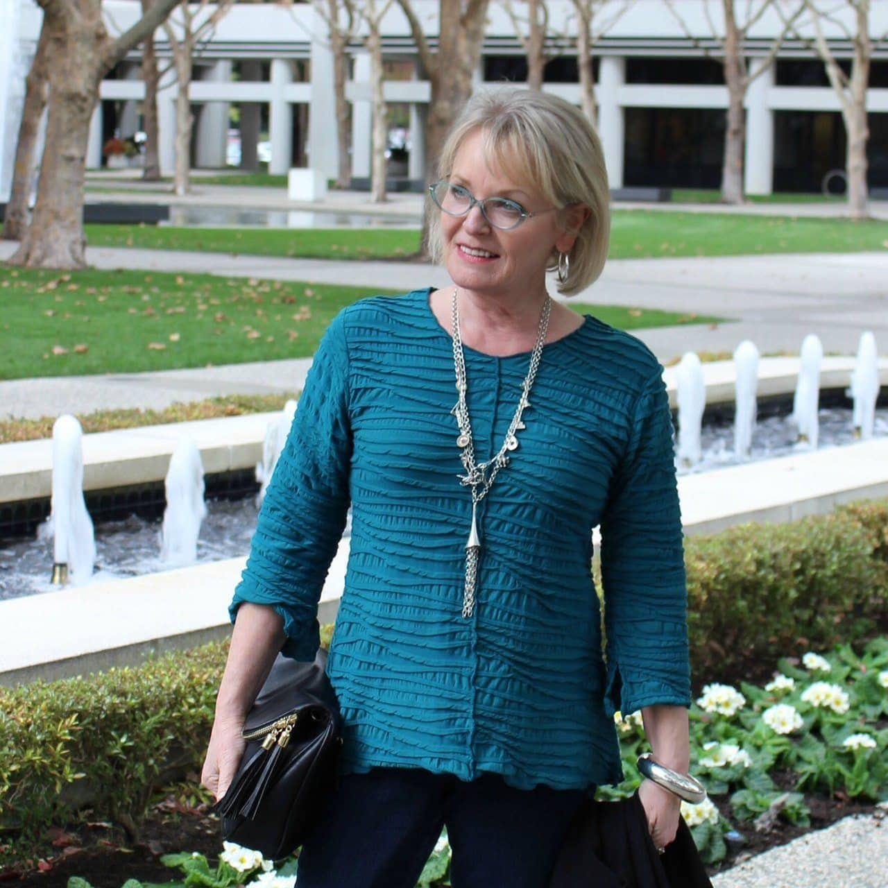 Jennifer Connolly of A Well Styled Life wearing top from Artful Home