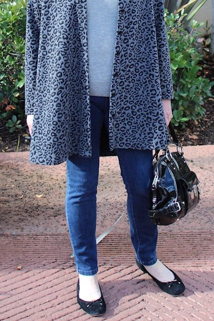 ballet flats and jeans