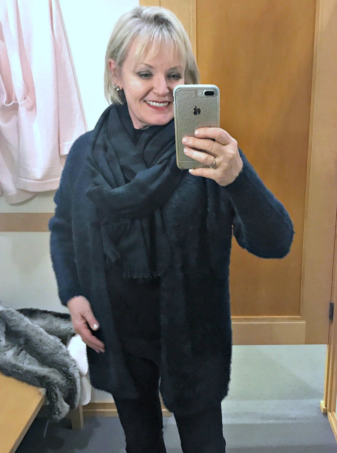 Jennifer Connolly of A Well Styled Life wearing Loft sweater
