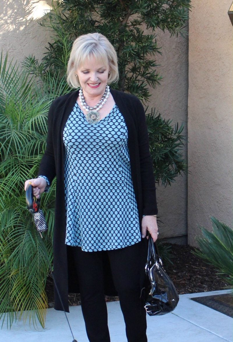 Jennifer Connolly of A Well Styled Life wearing Eileen Fisher