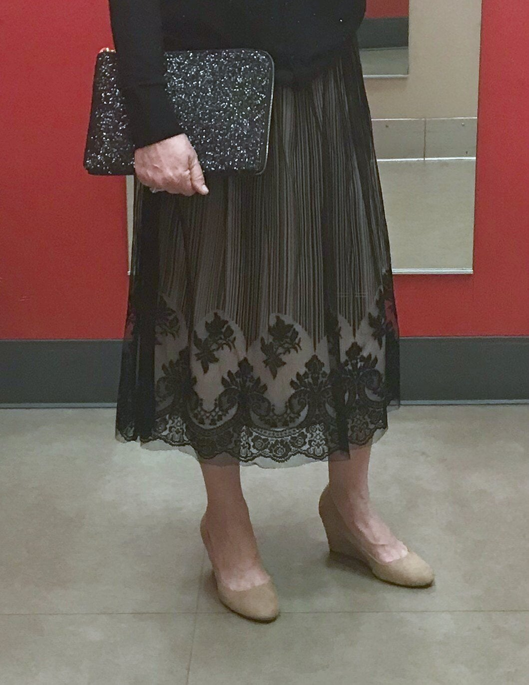 Jennifer Connolly of A Well Styled Life wearing Target Skirt